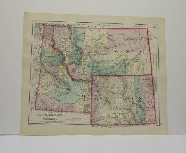 Idaho Montana And Wyoming Map From