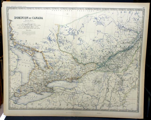 Dominion of canada map western sheet from johnstons royal dominion of canada map western sheet from johnstons royal atlas of gumiabroncs Gallery