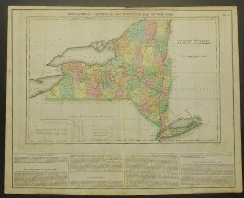 Geographical Map Of New York.Geographical Statistical And Historical