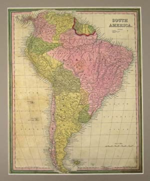 SOUTH AMERICA [Map]. From Tanner's New Universal Atlas: Tanner, Henry Schenck