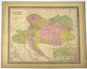 AUSTRIAN EMPIRE [Map]. From Tanner's New Universal Atlas: Tanner, Henry Schenck