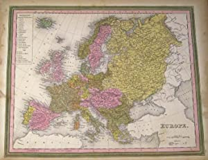 EUROPE [Map]. From Tanner's New Universal Atlas: Tanner, Henry Schenck