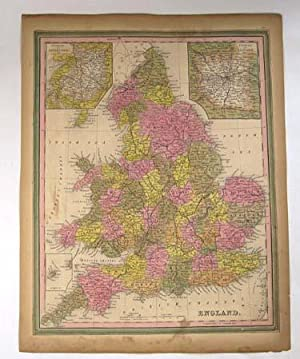 ENGLAND [Map]. From Tanner's New Universal Atlas: Tanner, Henry Schenck