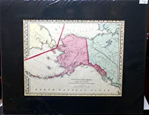 NORTH WESTERN AMERICA SHOWING THE TERRITORY CEDED BY RUSSIA TO THE UNITED STATES. FROM MITCHELL&#...