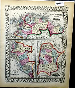 MAP OF NEW GRANADA, VENEZUELA, AND GUIANA. MAP OF PERU, AND EQUADOR. MAP OF THE ARGENTINE ...