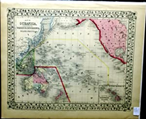 MAP OF OCEANICA, EXHIBITING ITS VARIOUS DIVISIONS, ISLAND GROUPS &c. FROM MITCHELL'S NEW ...