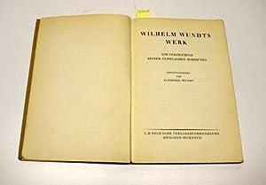 WILHELM WUNDTS WERK EIN VERZEICHNIS SEINER SAMTLICHEN SCHRIFTEN.: Wundt, Eleonore