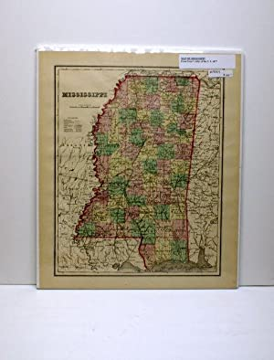 MISSISSIPPI [Map]. From Gray's Atlas of the United States.