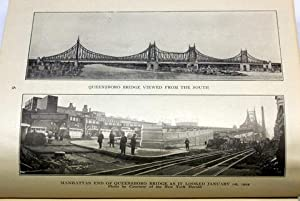 BLOOMINGDALES DIARY 1909 AND SOUVENIR COMMEMORATIVE OF THE OPENING OF THE QUEENSBORO BRIDGE 1901-...