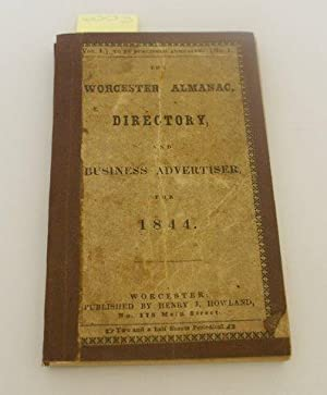WORCESTER ALMANAC, DIRECTORY, AND BUSINESS ADVERTISER, FOR 1844.