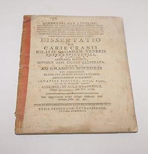 Dissertatio De Carie Cranii Militis Quondam Venerei.: Leveling, Heinrich Palmatius Von
