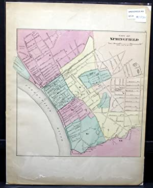 CITY OF SPRINGFIELD. [Map]: Walling, H. F. and O. W. Gray.