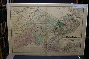 MAP OF BOSTON [Map].: Sampson, Davenport & Co.