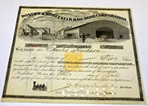 BOSTON & WORCESTER RAIL-ROAD (RAILROAD) CORPORATION.: Unknown.