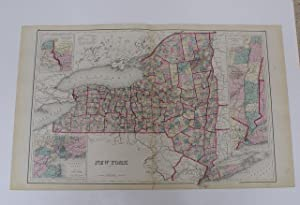 NEW YORK [Map]. #56-57 From Gray's Atlas of the United States With General Maps of the World.