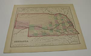 NEBRASKA [Map]. #111 From Gray's Atlas of the United States with General Maps of the World.