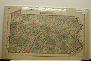 PENNSYLVANIA [Map]. #68-69 From Gray's Atlas of the United States with General Maps of the World.