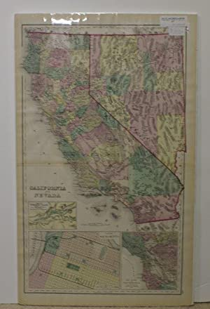 CALIFORNIA AND NEVADA [Map]. #118-119 From Gray's Atlas of the United States with General Maps of...