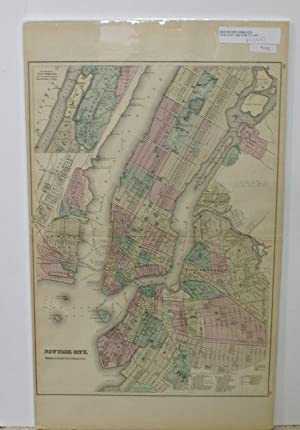 NEW YORK CITY, BROOKLYN, JERSEY CITY, HOBOKEN ETC [Map]. #60-61 From Gray's Atlas of the United S...