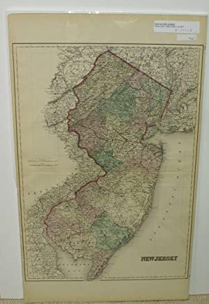 NEW JERSEY [Map]. #64-65 From Gray's Atlas of the United States with General Maps of the World.
