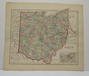 OHIO [Map]. From Gray's Atlas of the United States with General Maps of the World.