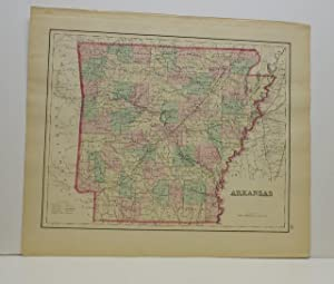 ARKANSAS [Map]. From Gray's Atlas of the United States with General Maps of the World.