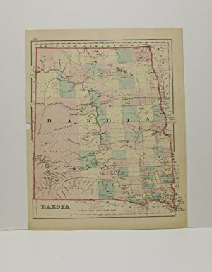 DAKOTA [Map]. From Gray's Atlas of the United States with General Maps of the World.