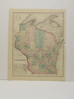 WISCONSIN [Map]. From Gray's Atlas of the United States with General Maps of the World.