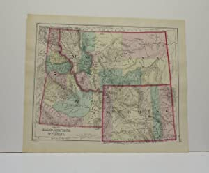 IDAHO, MONTANA AND WYOMING [Map]. From Gray's Atlas of the United States with General Maps of the...