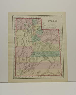 UTAH [Map]. From Gray's Atlas of the United States with General Maps of the World.