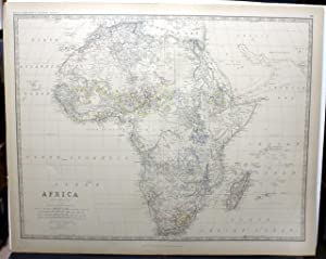 AFRICA [MAP]. FROM JOHNSTON'S ROYAL ATLAS OF MODERN GEOGRAPHY.: Johnston, Keith.