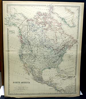 NORTH AMERICA. MAP.(FROM JOHNSTON'S ROYAL ATLAS OF: Johnston, Keith