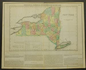 GEOGRAPHICAL, STATISTICAL, AND HISTORICAL MAP OF NEW YORK.: Carey, Henry Charles & Isaac Lea.