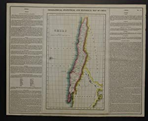 GEOGRAPHICAL, STATISTICAL, AND HISTORICAL MAP OF CHILI.: Carey, Henry Charles & Isaac Lea.