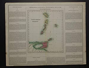 GEOGRAPHICAL, STATISTICAL, AND HISTORICAL MAP OF THE WINDWARD ISLANDS.: Carey, Henry Charles & ...
