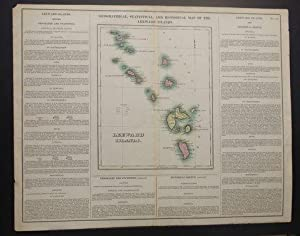 GEOGRAPHICAL, STATISTICAL, AND HISTORICAL MAP OF THE LEEWARD ISLANDS.: Carey, Henry Charles & Isaac...