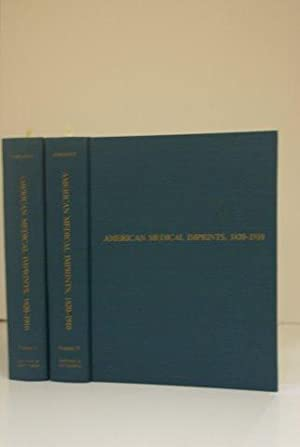 AMERICAN MEDICAL IMPRINTS 1820-1910. A CHECKLIST OF PUBLICATIONS ILLUSTRATING THE HISTORY AND ...