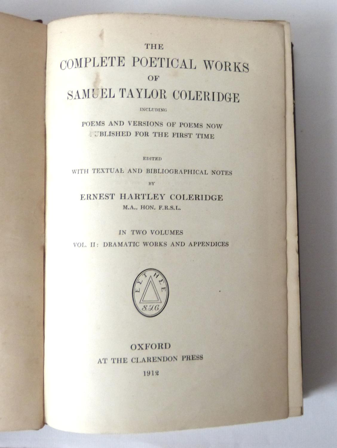 The poetical works of Coleridge, Shelley, and Keats : complete in one volume