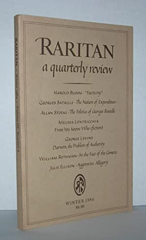 FACTICITY - CRITICISM, CANON-FORMATION AND PROPHECY Raritan,: Bloom, Harold -