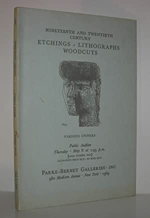 NINETEENTH AND TWENTIETH CENTURY ETCHINGS, LITHOGRAPHS, WOODCUTS: Parke-Bernet Galleries -