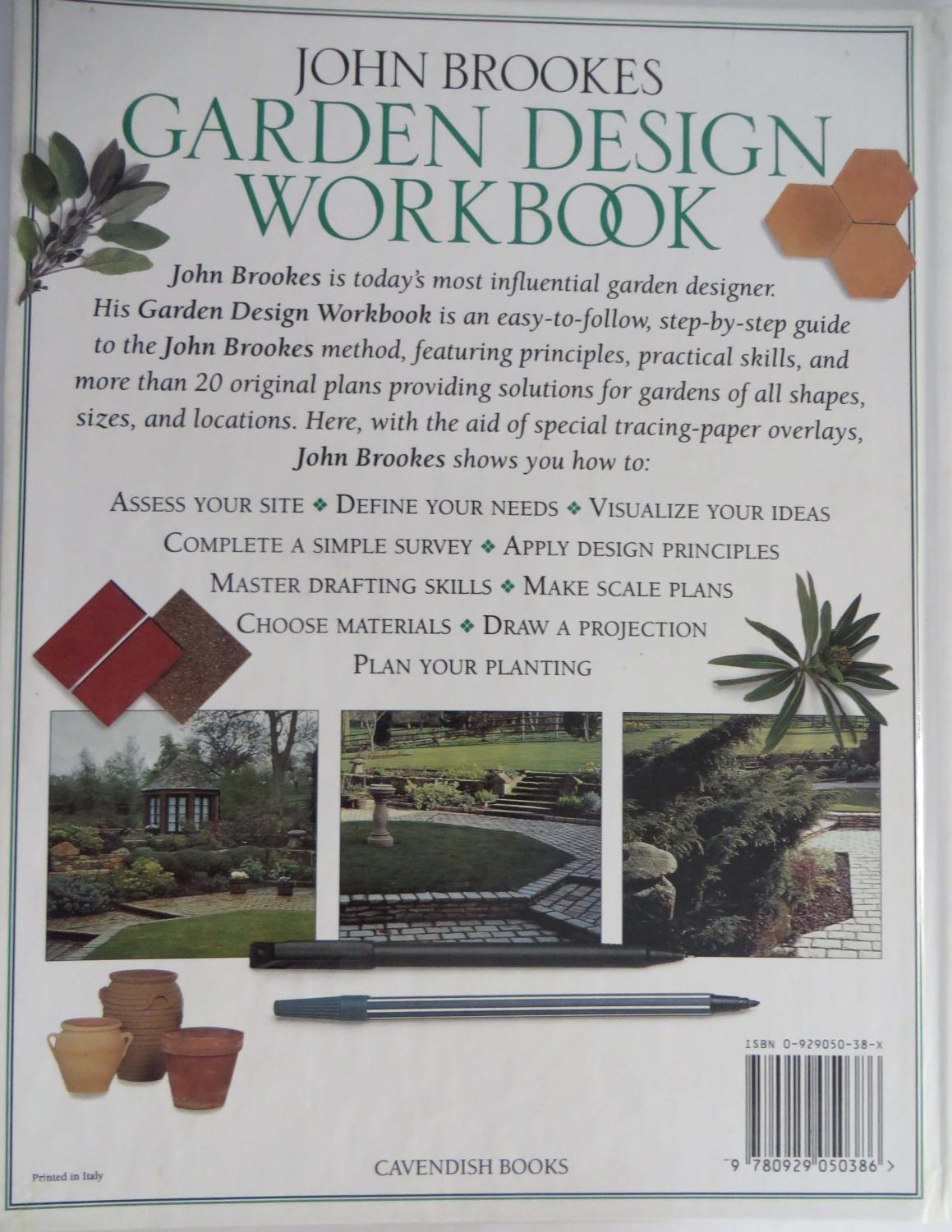 john brookes garden design workbook a practical step by step course brookes