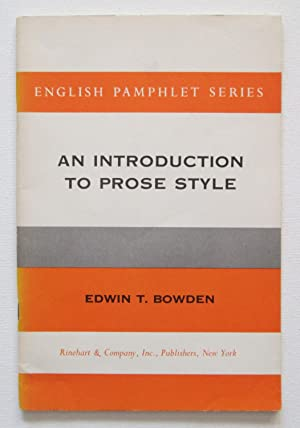 An Introduction to Prose Style