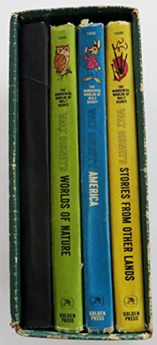 The Wonderful Worlds of Walt Disney in Four Volumes - Vol. 1 Fantasyland, Vol.2 Worlds of Nature,...