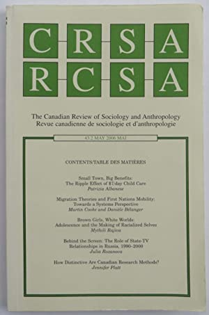 C R S A - R C S A The Canadian Review of Sociology and Anthropology