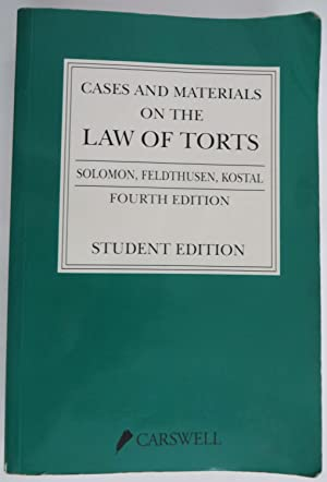 Cases and Materials on the Law of Torts - Student Edition