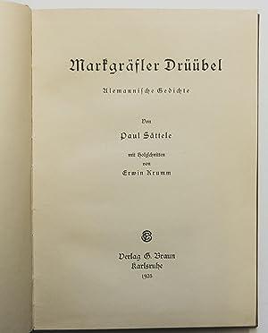 Markgräfler Drüübel : Alemannische Gedichte. Mit Holzschnitten von Erwin Krumm: ...