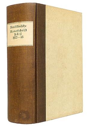 Benediktinische Monatschrift [Monatsschrift] zur Pflege religiösen und geistigen Lebens, Jahrgänge ...