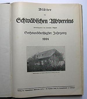 Blätter des Schwäbischen Albvereins 1924, 1925 und 1926 : Albvereinsblätter der Jahrgänge 36, 37 ...