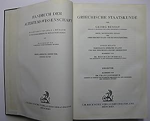 Griechische Staatskunde (beide Halbbände) : Erste Hälfte (Band 1): Allgemeine Darstellung des ...