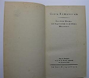 Gesta Romanorum : Das älteste Märchen- und Legendenbuch des christlichen Mittelalters : Nach der ...